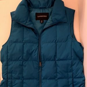 LANDS' END DOWN PUFFER VEST - SIZE: M (10-12)